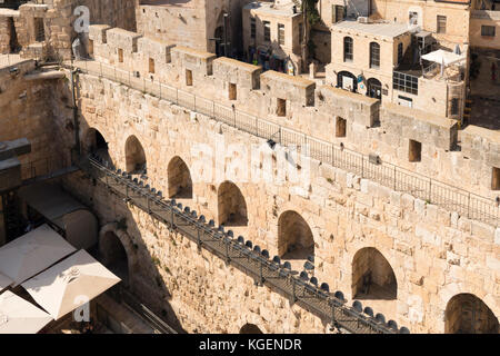 Israel The Holy Land Jerusalem Citadel old city Tower of David Museum Migdal David Elias Sourasky Archeological - Stock Photo