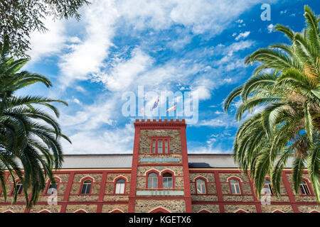 Barossa Valley, Australia - January 16, 2016: Chateau Tanunda  vintage winery on a bright day. It was established - Stock Photo