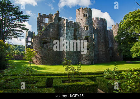Laugharne Castle - Stock Photo
