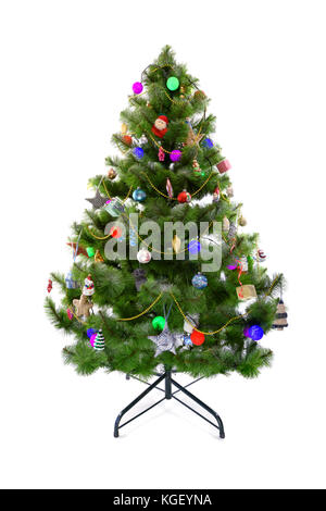 Christmas tree with toys - Stock Photo