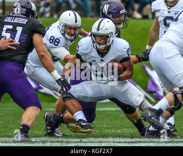 Saturday October 7th - Penn State Nittany Lions running back Saquon Barkley (26) makes an move in the hole during - Stock Photo