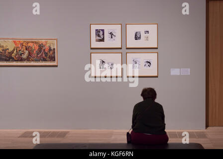 Tate Modern, London, UK. 7th Nov, 2017. Red Star Over Russia: A Revolution in Visual Culture 1905-55. Featuring - Stock Photo