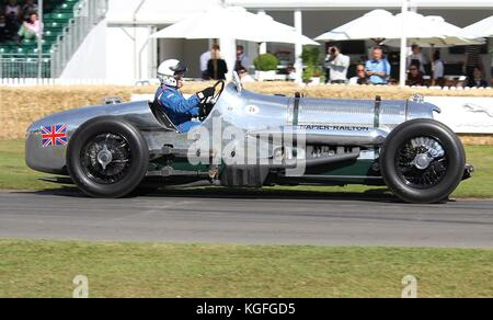 1933 Napier-Railton Special, which broke 47 world speed records. Owned by Brooklands Museum and here at Goodwood - Stock Photo