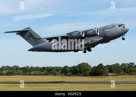 A C-17 Globemaster military transport aircraft of the 429 Transport Squadron of the Royal Canadian Air Force at - Stock Photo