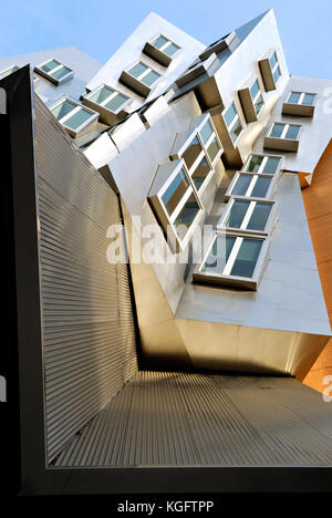 Architectural background. Detail of Stata Center building at the Massachusetts Institute of Technology in Cambridge, - Stock Photo