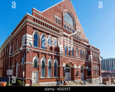 Ryman Auditorium, formerly the Grand Ole Opry House from 1943-1974, Nashville,Tennessee, USA - Stock Photo