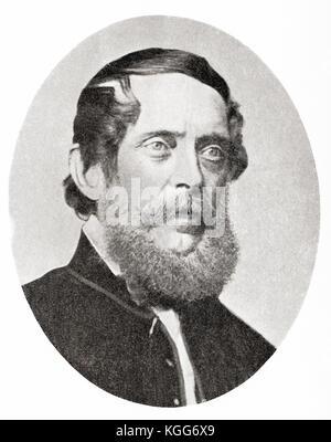 Lajos Kossuth de Udvard et Kossuthfalva aka Louis Kossuth, 1802 –  1894.  Hungarian lawyer, journalist, politician, - Stock Photo