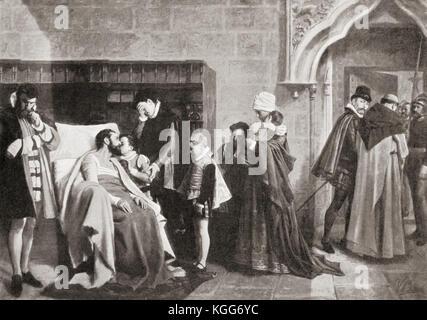 Antonio Pérez, 1540–1611.  Spanish statesman, secretary of king Philip II of Spain, said to have organised the murder - Stock Photo