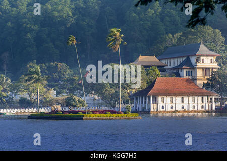 Temple of the Sacred Tooth Relic, Kandy, Sri Lanka - Stock Photo