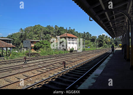 Peradeniya Junction Station Kandy Central Province Sri Lanka - Stock Photo