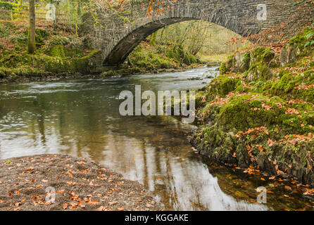 Footbridge over the River Brathay, Lake District National Park - Stock Photo
