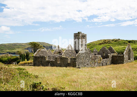 Sherkin Abbey  West Cork Ireland - Stock Photo