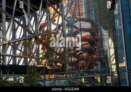 Development in and around Hudson Yards, including 'The Vessel' centerpiece, in New York on Saturday, November 4, - Stock Photo