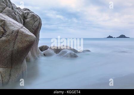 Porth Nanven, Cornwall, England, United Kingdom - Stock Photo