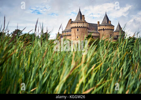 Chateau de Suscinio in Sarzeau Morbihan Brittany France. - Stock Photo