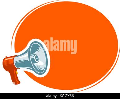 Ad, announcement, notification concept. Message, attention banner. Vector illustration - Stock Photo