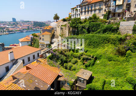 Porto, Portugal old town skyline - Stock Photo
