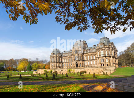 The Bowes Museum in Autumn, Barnard Castle, Teesdale, County Durham, UK - Stock Photo