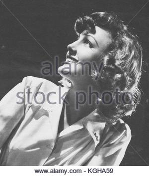 Virginia Grey, American film actress (1917-2004), in a 1955 photo. Her films include two 1955 films: ALL THAT HEAVEN - Stock Photo