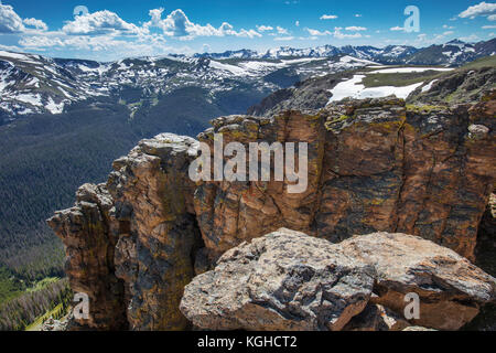 Exposed Strata, Rocky Mountain National Park, Colorado - Stock Photo