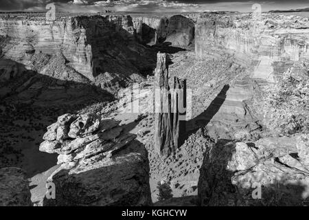 Spider Rock - Canyon de Chelly National Monument, Arizona - Stock Photo