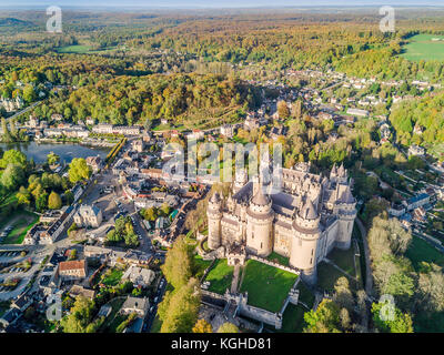 Amazing castle in Pierrefonds in natural surrounding, France - Stock Photo