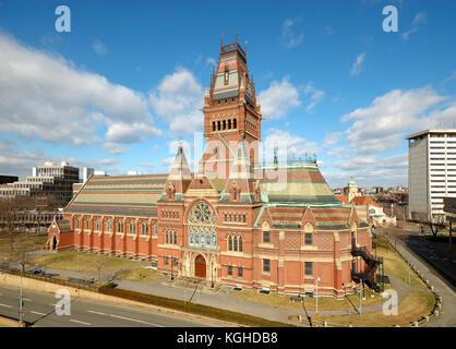 Memorial Hall in Harvard University campus, Cambridge, Massachusetts - Stock Photo