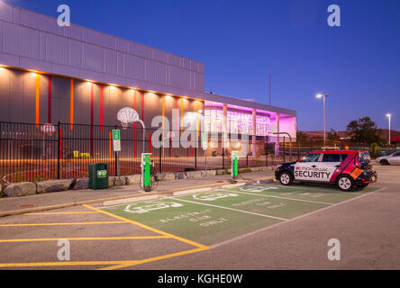 New Electric Car Charging Station And Parking Lot In Usa