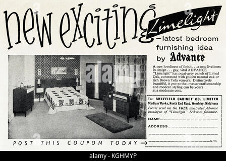 Original 1950s Vintage Print Advertisement From English