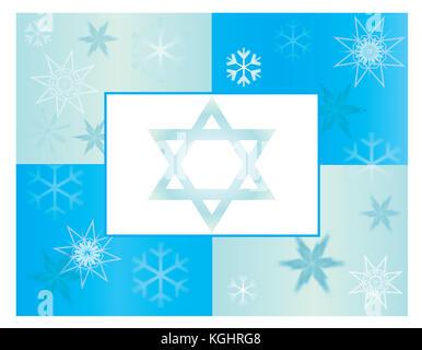 Hanukkah Card or Poster Template - Stock Photo