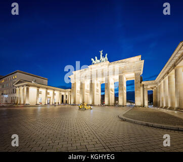 The Brandenburg Gate in Berlin, Germany - Stock Photo