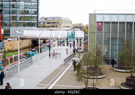 Paddington Underground Station entrance off Bishop's Bridge Road, London UK - Stock Photo