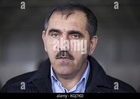Magas, Russia. 7th Nov, 2017. Head of the Republic of Ingushetia, Yunus-bek Yevkurov, visits the Sad Gigant Ingushetia - Stock Photo