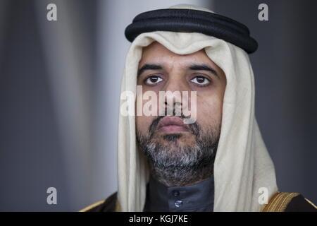 Magas, Russia. 7th Nov, 2017. Qatar's Ambassador to Russia Fahad Mohamed Abdullah Al Attiyah visits the Sad Gigant - Stock Photo
