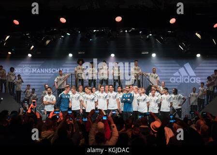 Berlin, Germany . 07th Nov, 2017. on stage -  during the presentation, DFB, Jersey presentation for the upcoming 2018 World Cup in Russia - WM 2018, The BASE Berlin, Uferhallen, Foto: Uwe Koch/fotobasis.org Credit: Uwe Koch/Alamy Live News