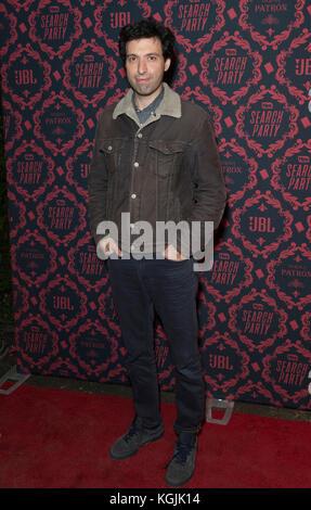 New York, United States. 08th Nov, 2017. New York, NY - November 8, 2017: Alex Karpovsky attends season 2 premiere - Stock Photo