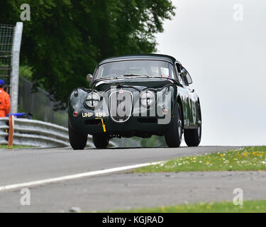 Marc Gordon, Jaguar XK150, Stirling Moss Trophy, Masters Historic Festival, Brands Hatch, May 2017. Brands Hatch, - Stock Photo