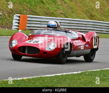 Anthony Ditheridge, Barry Cannell, Cooper Monaco, Stirling Moss Trophy, Masters Historic Festival, Brands Hatch, - Stock Photo