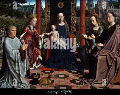 The Virgin and Child with Saints and Donor 1510 Gerard David  1460 – 1523 Early Netherlandish painter and manuscript - Stock Photo