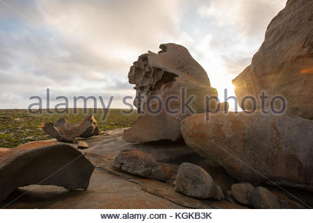 Remarkable Rocks, naturally formed granite boulders on the coast. - Stock Photo