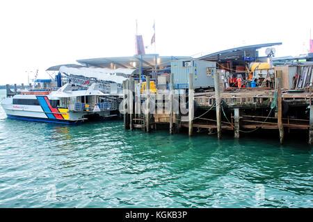 Auckland harbor, New Zealand, 12.august 2010 - Stock Photo