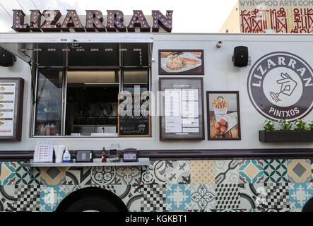Lizarran Pintxos food truck in Wynwood Arts District in Miami, Florida, USA. - Stock Photo