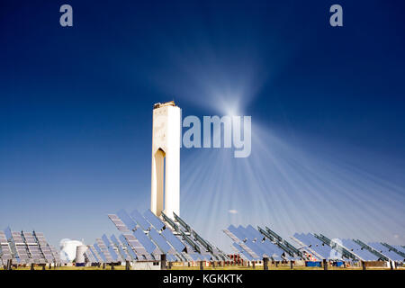 Solar Thermal Power Facility With Heliostat Mirrors And