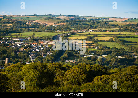 The A487 trunk road by-pass , Cardigan town (Aberteifi), Ceredigion, Wales, UK - Stock Photo