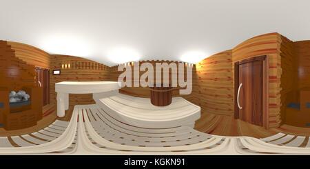small sauna hdri enviromrnt map - Stock Photo