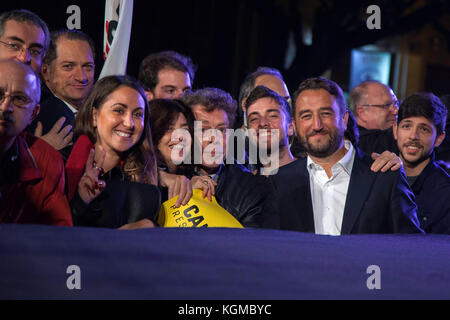 Giancarlo Cancelleri (Five Stars Movement) speaks during a electoral campaign on November 3 in Palermo, Italy. - Stock Photo
