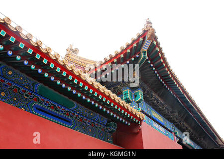 Detail of architecture in Forbidden City, the Palace Museum, served as imperial palace for Ming and Qing Dynasties - Stock Photo
