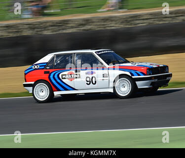 Richard Thurbin, Lancia Delta HF Integrale 16v, Italiano vs Inglese Allcomers Race, Festival Italia, Brands Hatch, - Stock Photo