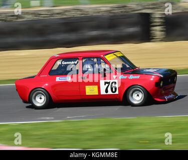 Giovanni Di Gennaro, FIAT 128, Italiano vs Inglese Allcomers Race, Festival Italia, Brands Hatch, August 13th, 2017, - Stock Photo