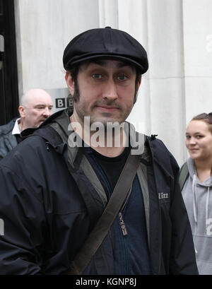 London, UK. 10th Nov, 2017. Ross Noble comedian seen at the BBC Radio Two Studios in London Credit: WFPA/Alamy Live - Stock Photo